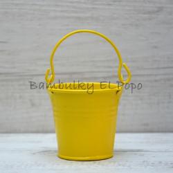 Plechový kyblík světle žlutý