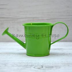 Plechová konvička zelená