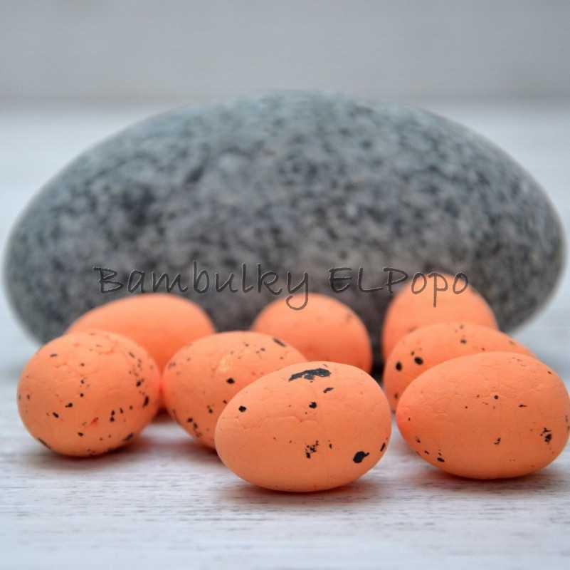 Polystyrenové vajíčko tm. lososové (v bal. 8ks)