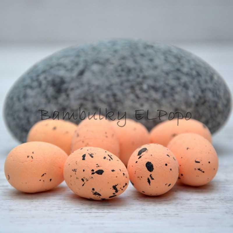 Polystyrenové vajíčko sv. lososové (v bal. 8ks)