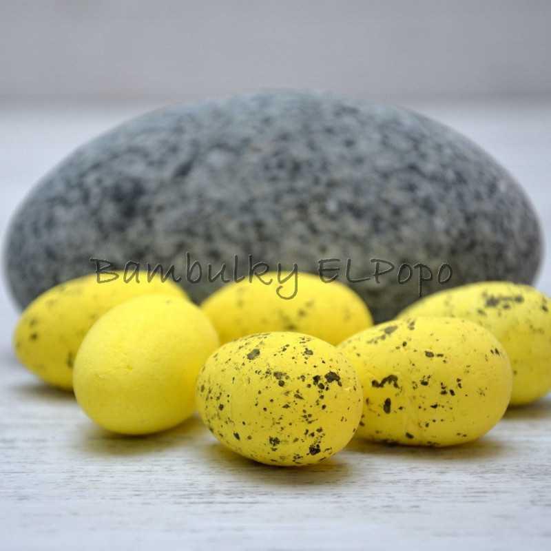 Polystyrenové vajíčko žluté (v bal. 6ks)
