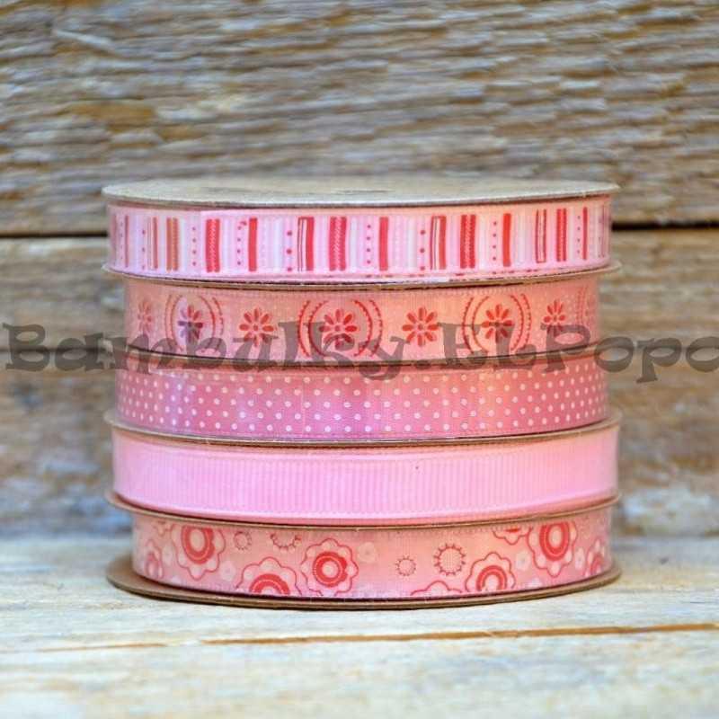 Dekorační stuha mix světle růžová