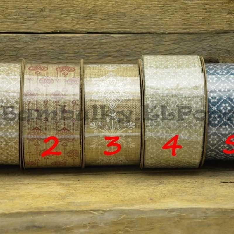 Dekorační stuha - cena za 1m (stuha č.1)