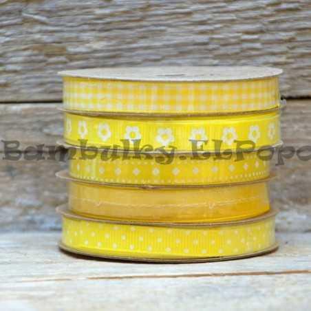 Dekorační stuha mix žlutá