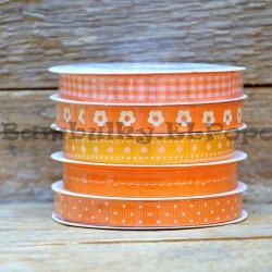 Dekorační stuha mix oranžová