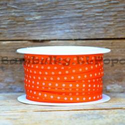 Puntíkatá stuha oranžová (cena za 1m)