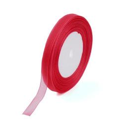 Organzová stuha 12mm červená