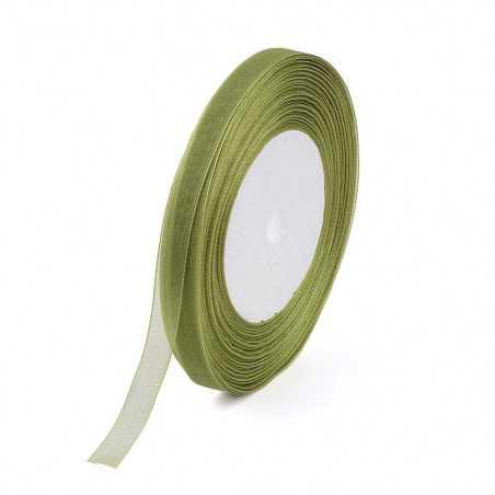 Organzová stuha 10mm olivová