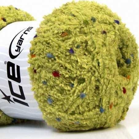 Puffy zelená s barevnými nopky