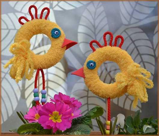 Sada na výrobu dvou velikonočních kuřátek