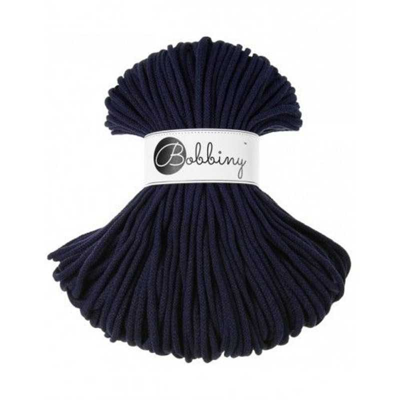BOBBINY šňůry Premium 5mm tmavě modrá