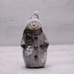 Vánoční sněhulák keramický