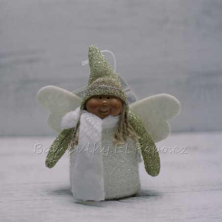 Andělka s čepičkou bílá