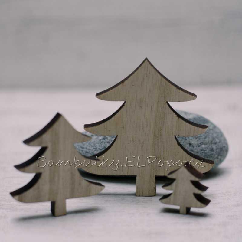 Sada dřevěných stromků (v balení 3 ks)