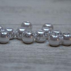 Perličkový korálek bílý (cena za 1 kus)