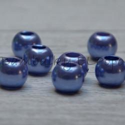 Perličkový korálek fialkovo modrý (cena za 1 kus)