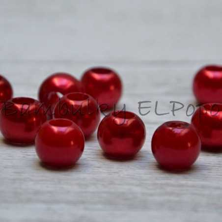 Perličkový korálek červený (cena za 1 kus)