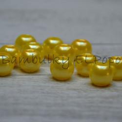 Perličkový korálek žlutý (cena za 1 kus)