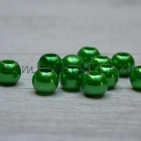 Perličkový korálek zelený (cena za 1 kus)