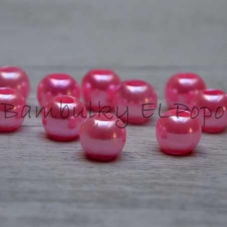 Perličkový korálek růžový (cena za 1 kus)