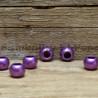 Matný korálek nastříkaný fialový (cena za 1 kus)