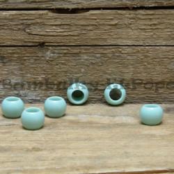 Matný korálek zeleno-modrý (cena za 1 kus)