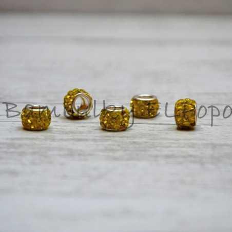 Štrasová rondelka žlutá (cena za 1 kus)