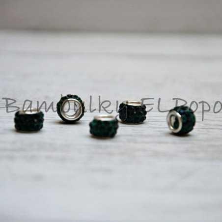 Štrasová rondelka khaki (cena za 1 kus)