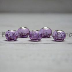 Skleněný korálek sv. fialový (cena za 1 kus)