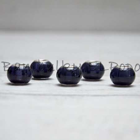 Skleněný korálek šedo-fialový (cena za 1 kus)