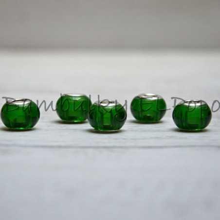 Skleněný korálek zelený (cena za 1 kus)