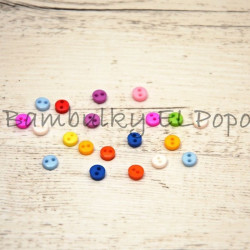 Barevné mini knoflíčky (cena za 20 ks)