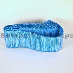 Modro-bílá stuha s drátkem (cena za 3m)