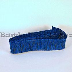 Modro-černá stuha s drátkem (cena za 3m)