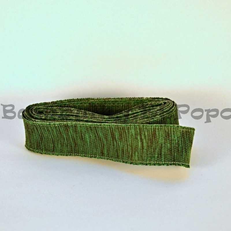 Zeleno-černá stuha s drátkem (cena za 3m)