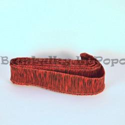 Červeno-černá stuha s drátkem (cena za 3m)