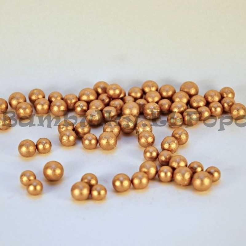 Dekorační polyst. kuličky bronzové
