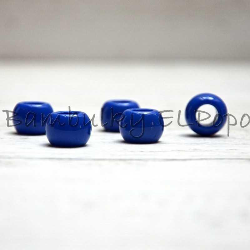 Plastový korálek tmavě modrý (cena za 1 kus)