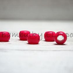 Plastový korálek růžová-malinová (cena za 1 kus)
