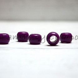 Plastový korálek fialová-purpura (cena za 1 kus)