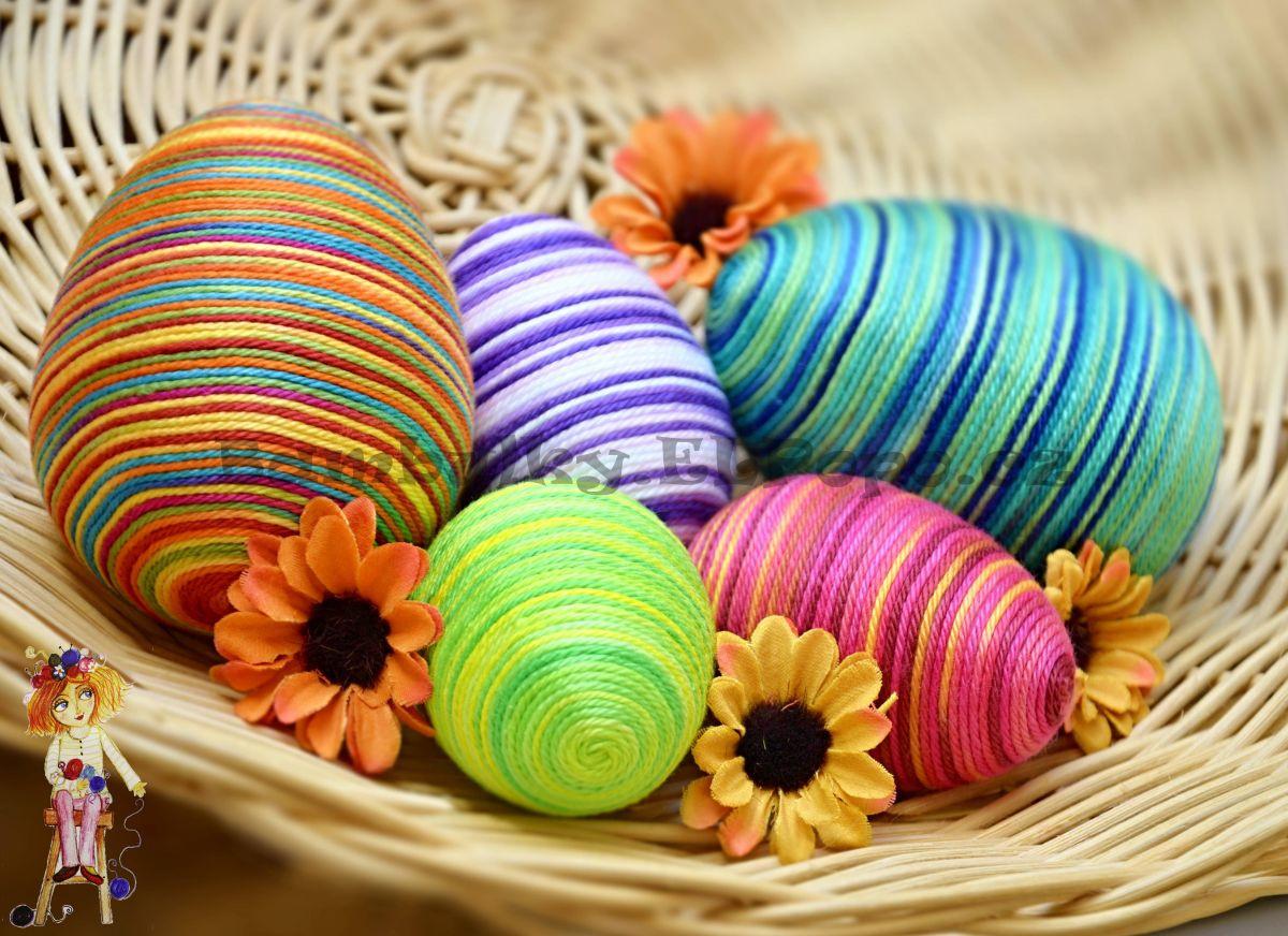Přízová velikonoční vajíčka